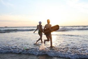 Surfing in Cornwall beaches