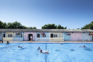 Heated Swiming Pool at Trevornick Holiday Park, Holywell Bay, Newquay, Cornwall