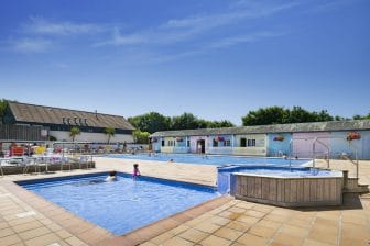Heated Swimming Pool Hot Tub and Spa at Trevornick Holiday Park Holywell Bay Newquay Cornwall