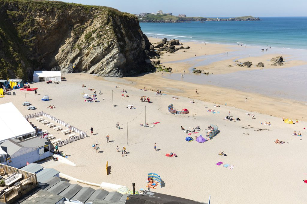 Lusty Glaze Beach in Newquay Cornwall